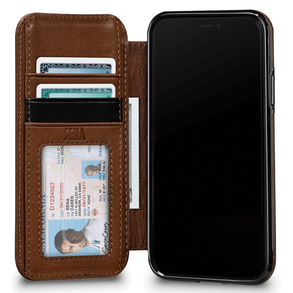 Sena Deen Wallet Book iPhone XR Bruin 03