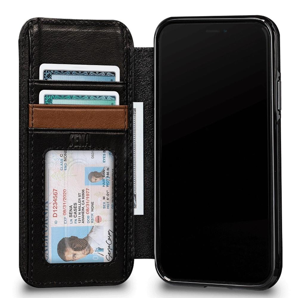 Sena Deen Wallet Book iPhone XR Zwart 03