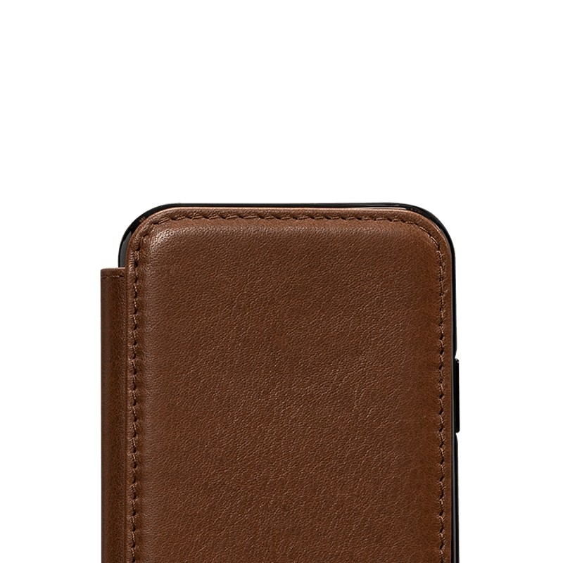Sena Deen Walletbook iPhone XS Max Hoesje Saddle Brown 03