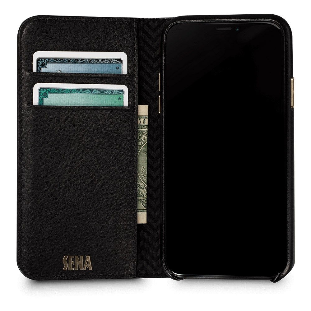 Sena Isa Quilted Wallet Book iPhone X/Xs Zwart - 3