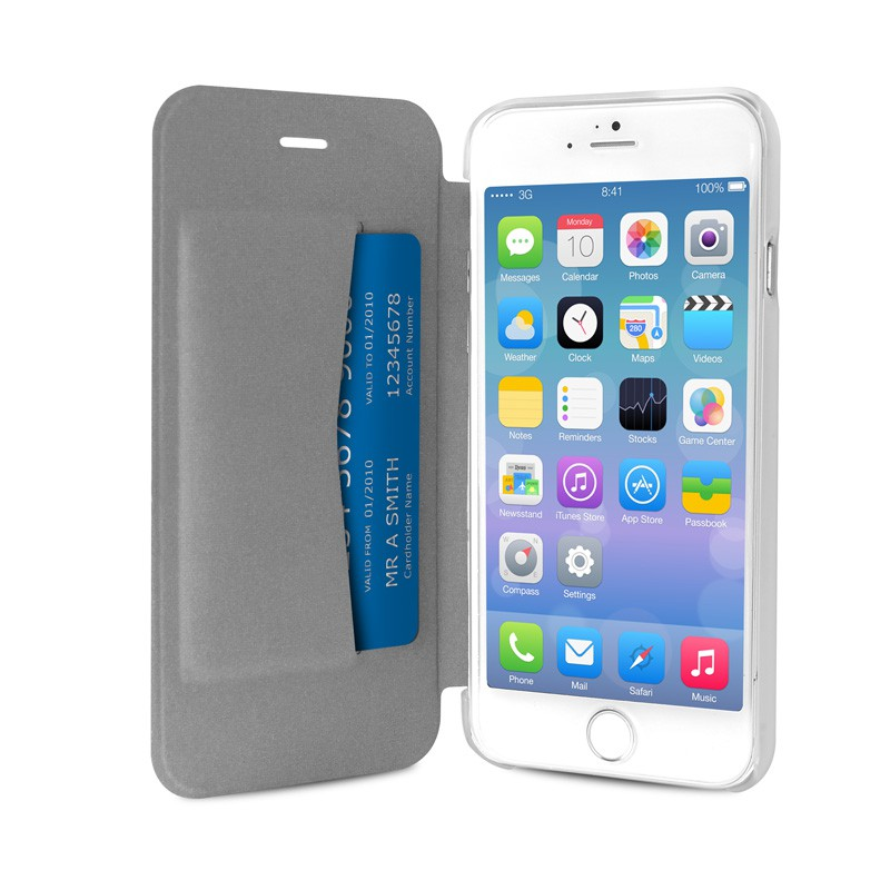 Puro - Eco Leather Wallet iPhone 6 Silver - 3