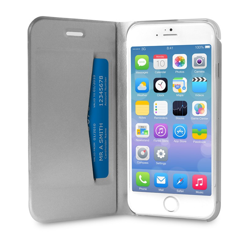 Puro Eco Leather Wallet iPhone 6 Silver - 3