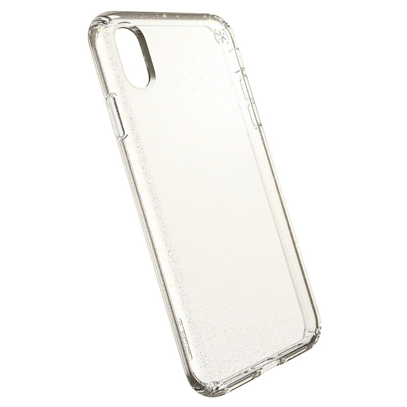 Speck Presidio Clear Glitter iPhone XS Max Case Goud/Transparant 03