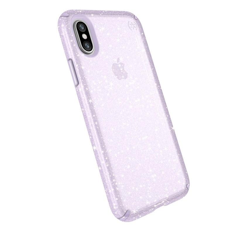 Speck Presidio Clear Glitter iPhone X/XS Hoesje Paars - 3