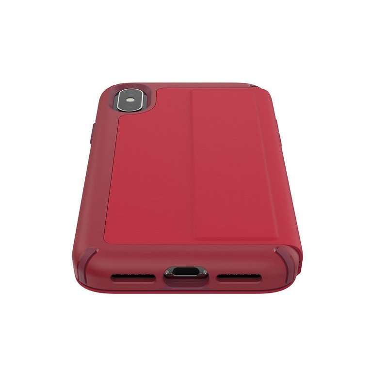 Speck Presidio Folio Leather iPhone X/XS Hoesje Rood - 3