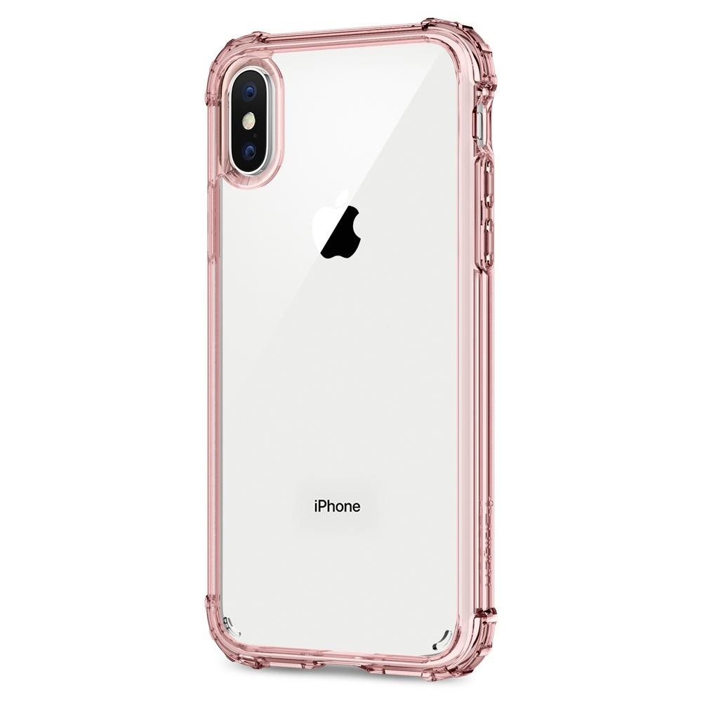 Spigen Crystal Shell iPhone X/Xs Hoesje Transparant/Roze - 3