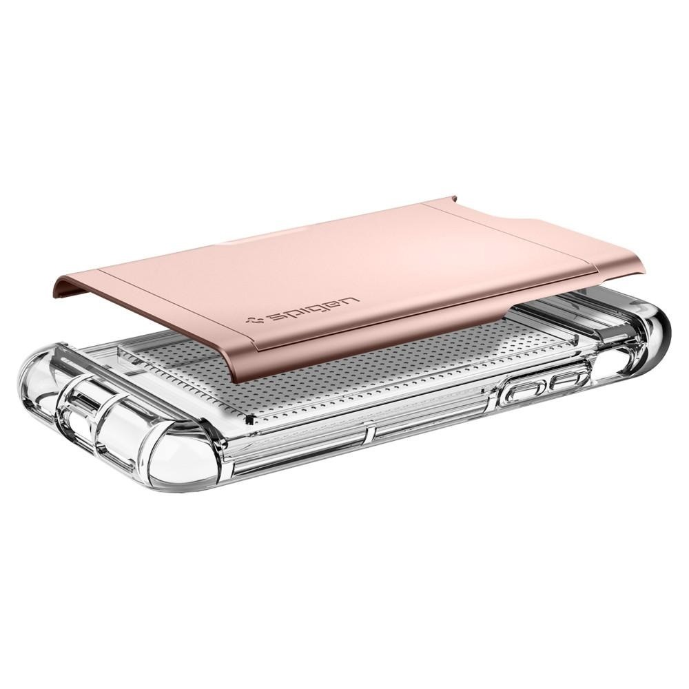 Spigen Crystal Wallet iPhone 8/7 Hoesje Rose Goud - 3