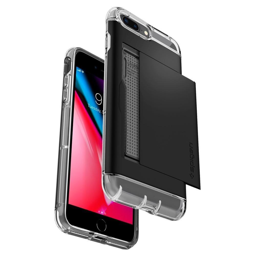 Spigen Crystal Wallet iPhone 8 Plus/7 Plus Zwart - 3