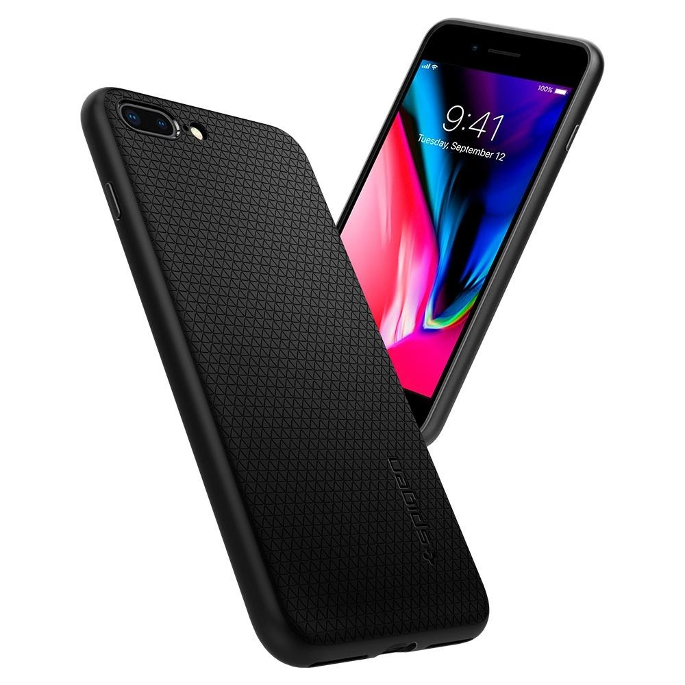 Spigen Liquid Air Armor Case iPhone 8 Plus/7 Plus Zwart - 3