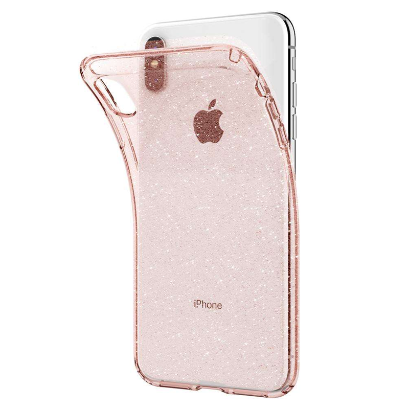 Spigen - Liquid Crystal Glitter Case iPhone XS Max Rose Transparant 03