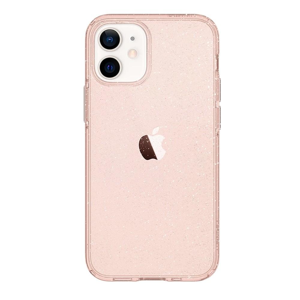 Spigen Liquid Crystal Glitter iPhone 12 Mini Roze - 3