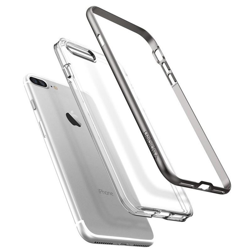 Spigen Neo Hybrid Crystal iPhone 7 Plus Gunmetal/Clear - 3