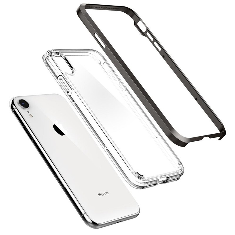 Spigen Neo Hybrid Crystal iPhone XR Case Grijs Transparant 03