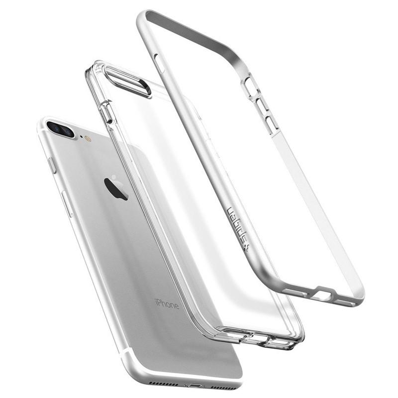 Spigen Neo Hybrid Crystal iPhone 7 Plus Satin Silver/Clear - 3