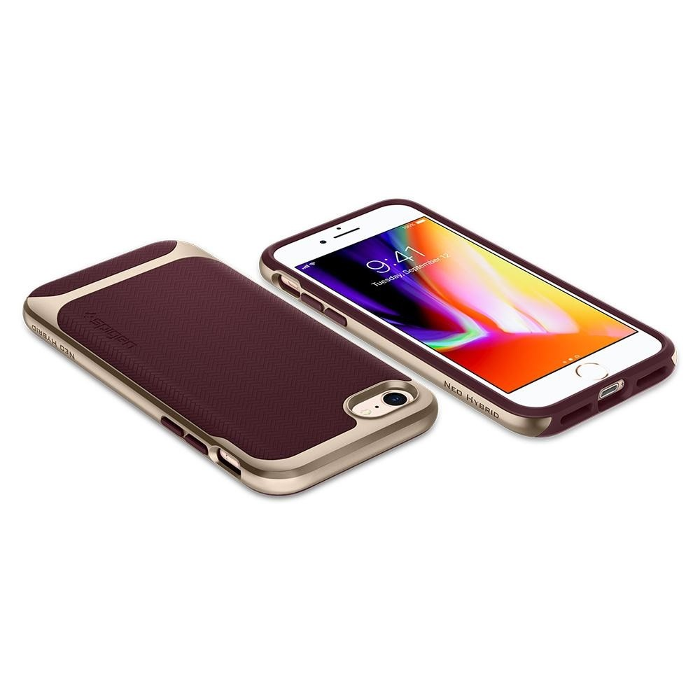 Spigen Neo Hybrid Herringbone Phone 8/7 Burgundy - 3