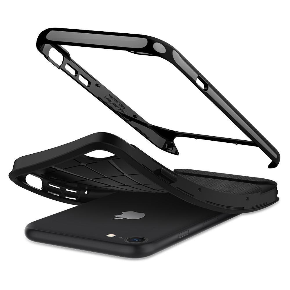 Spigen Neo Hybrid Herringbone Phone 8/7 Zwart - 3