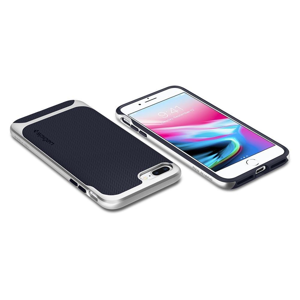 Spigen Neo Hybrid Herringbone iPhone 8 Plus/7 Plus Zilver - 3