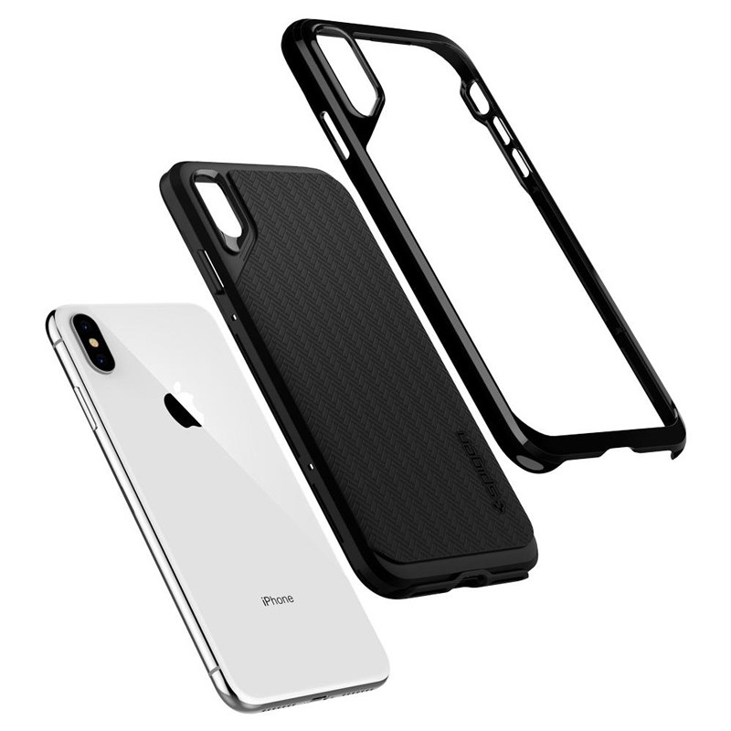 Spigen Neo Hybrid iPhone XS Max Hoesje Jet Black 03