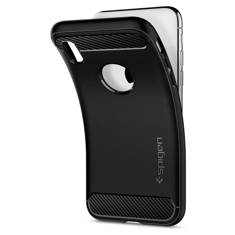 Spigen Rugged Armor Hoesje iPhone XS Max Zwart 03