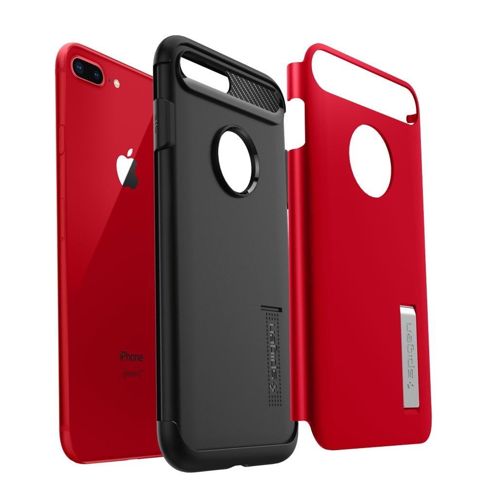 Spigen Slim Armor Case iPhone 8 Plus/7 Plus Rood - 3