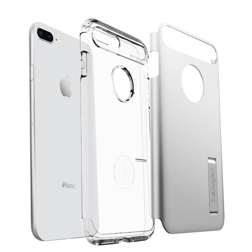 Spigen Slim Armor Case iPhone 8 Plus/7 Plus Zilver - 3