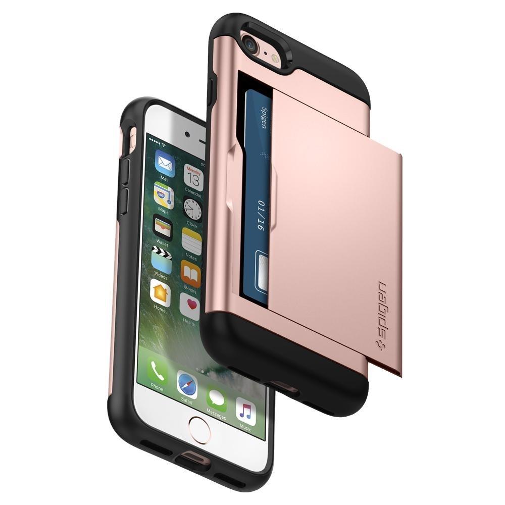 Spigen Slim Armor CS iPhone 8/7 Hoesje Rose Goud - 3