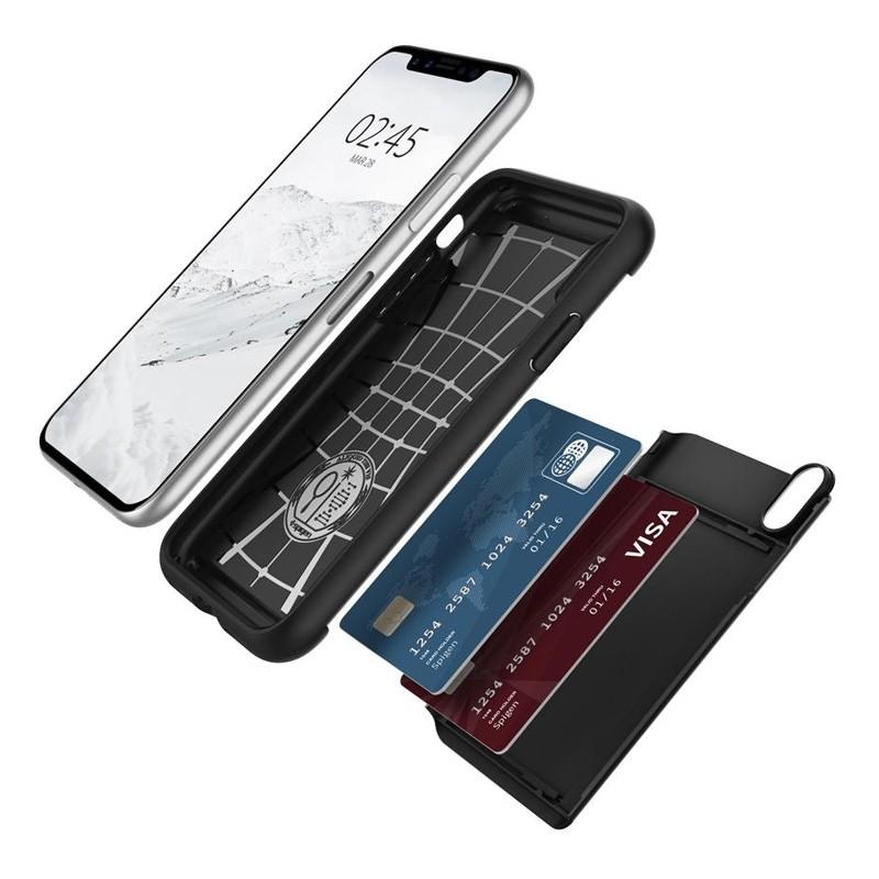Spigen - Slim Armor CS iPhone 8 Hoesje Black 03