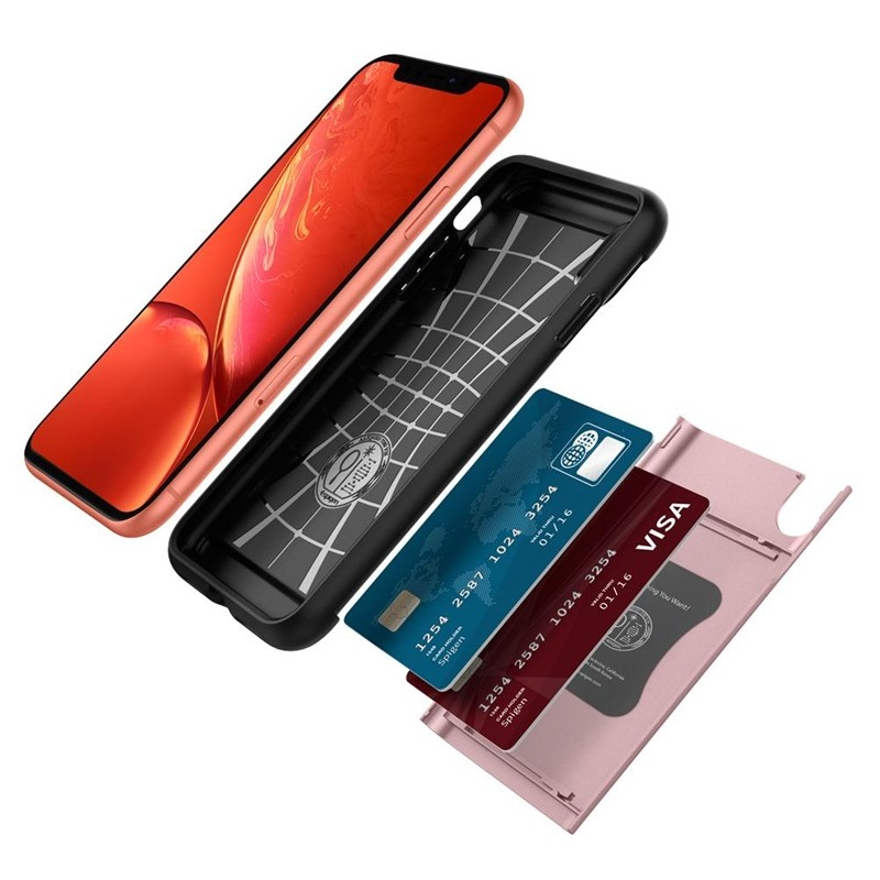 Spigen Slim Armor CS iPhone XR Hoesje Roze Zwart 03