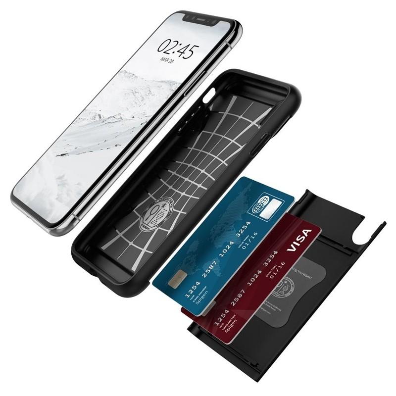 Spigen Slim Armor CS iPhone XS Max Hoesje Zwart 03