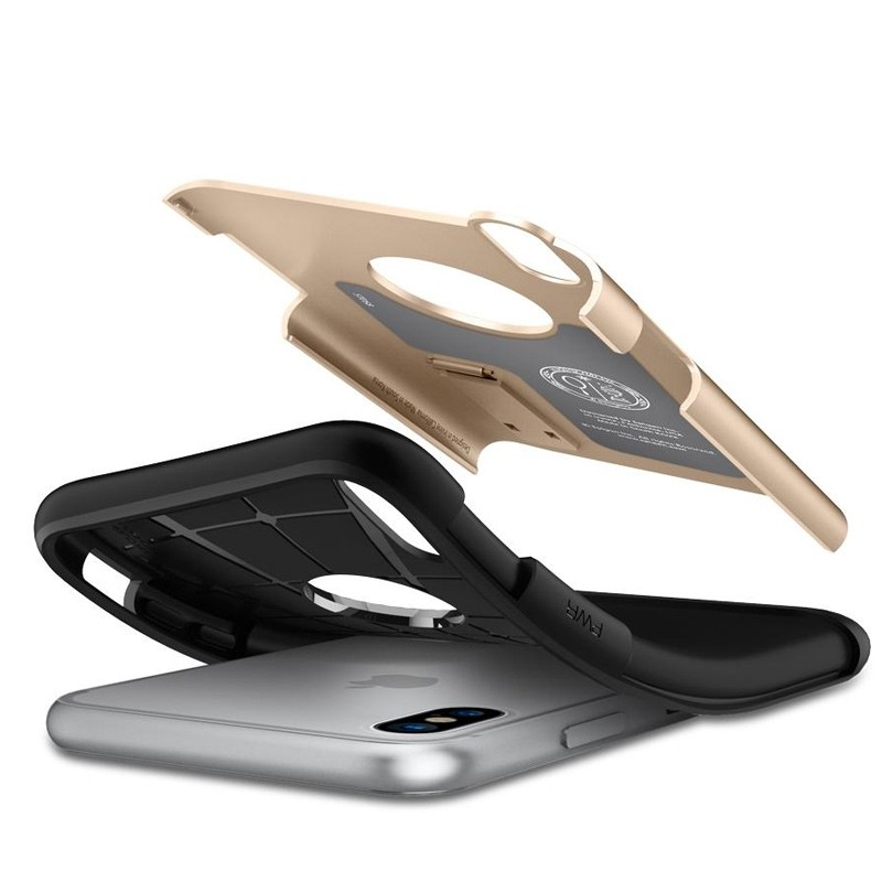 Spigen - Slim Armor iPhone 8 Hoesje Champagne Gold 03