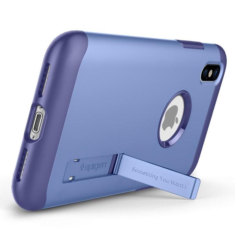 Spigen - Slim Armor iPhone 8 Hoesje Violet 02