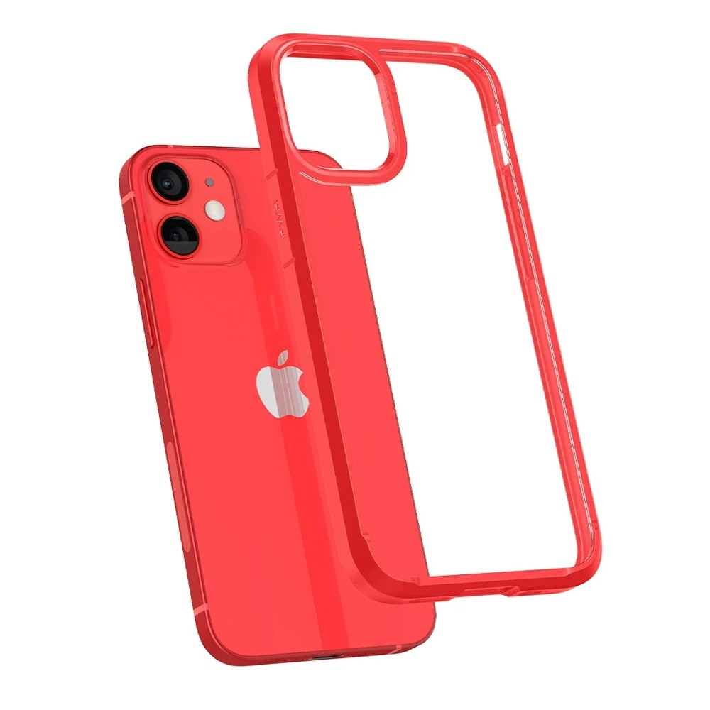 Spigen Ultra Hybrid Case iPhone 12 Mini Rood - 3