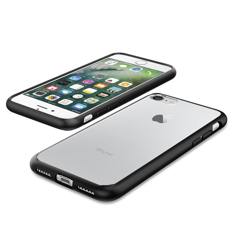 Spigen Ultra Hybrid iPhone 7 Black/Clear - 3