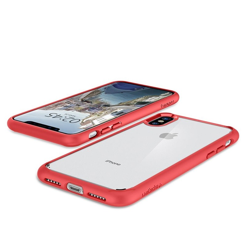 Spigen - Ultra Hybrid iPhone 8 Hoesje Red 03