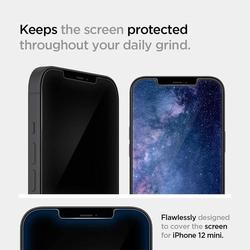 Spigen Glass tR EZ Fit iPhone 12 / 12 Pro 2 Pack 03