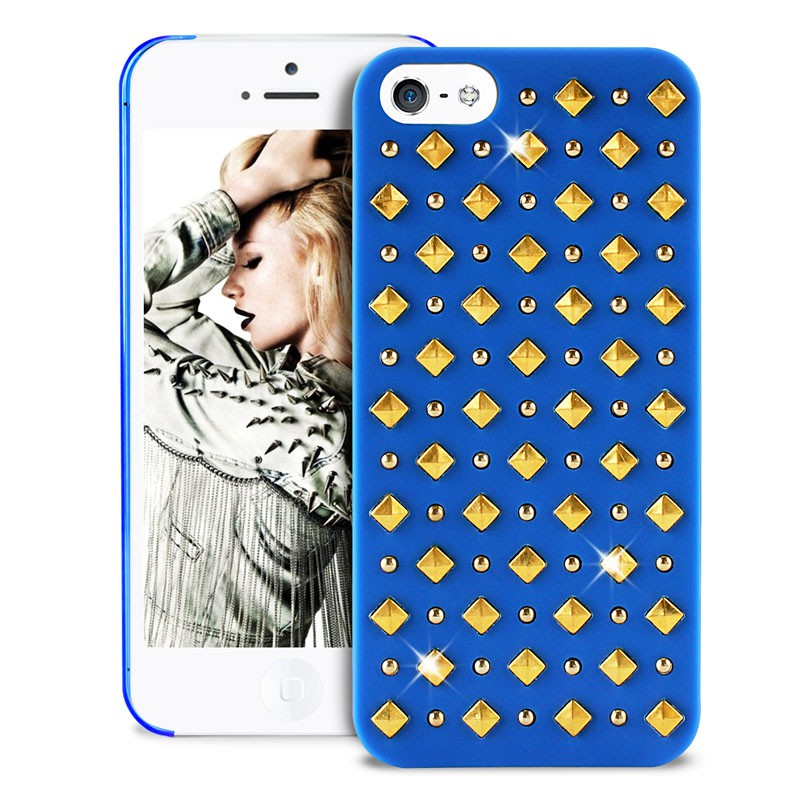 Puro Studs Backcover iPhone 5/5S Blue - 3
