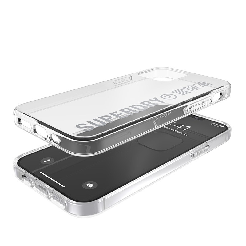 Superdry Snap Case Clear iPhone 12 / iPhone 12 Pro zilver 03