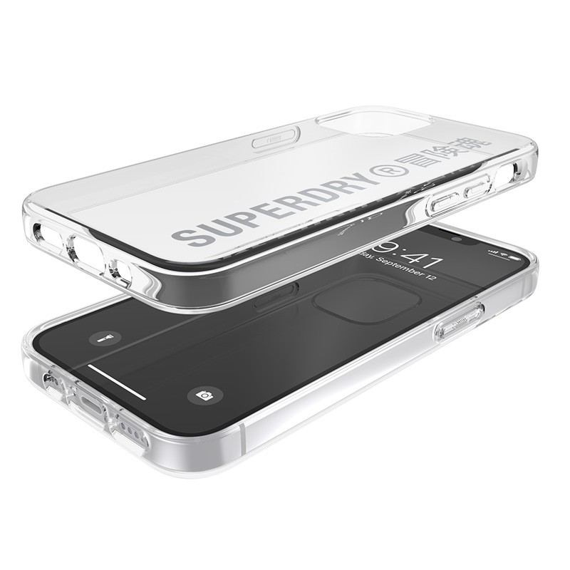Superdry Snap Case Clear iPhone 12 Mini zilver 03
