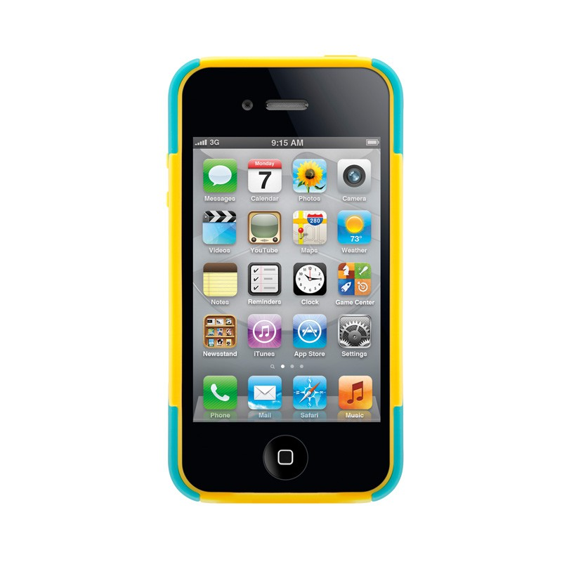 SwitchEasy Rebel X iPhone 4(S) Yellow/blue - 3