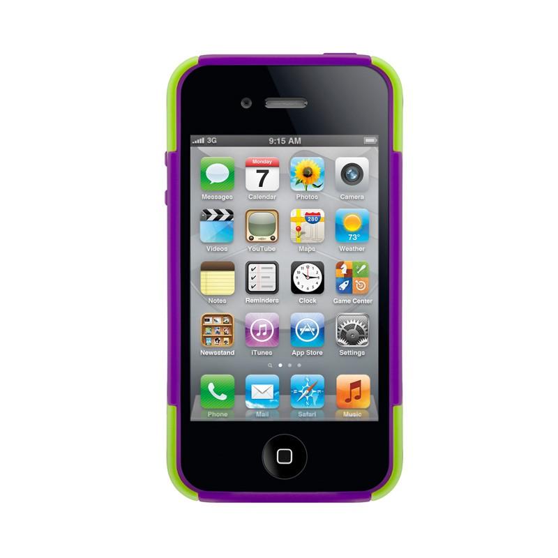 SwitchEasy Rebel X iPhone 4(S) Lime/purple - 3