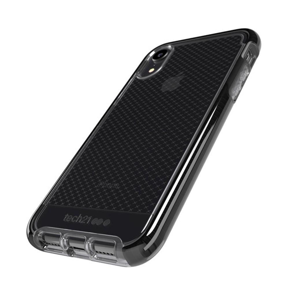 Tech21 - Evo Check iPhone XR Hoesje Zwart Transparant 03