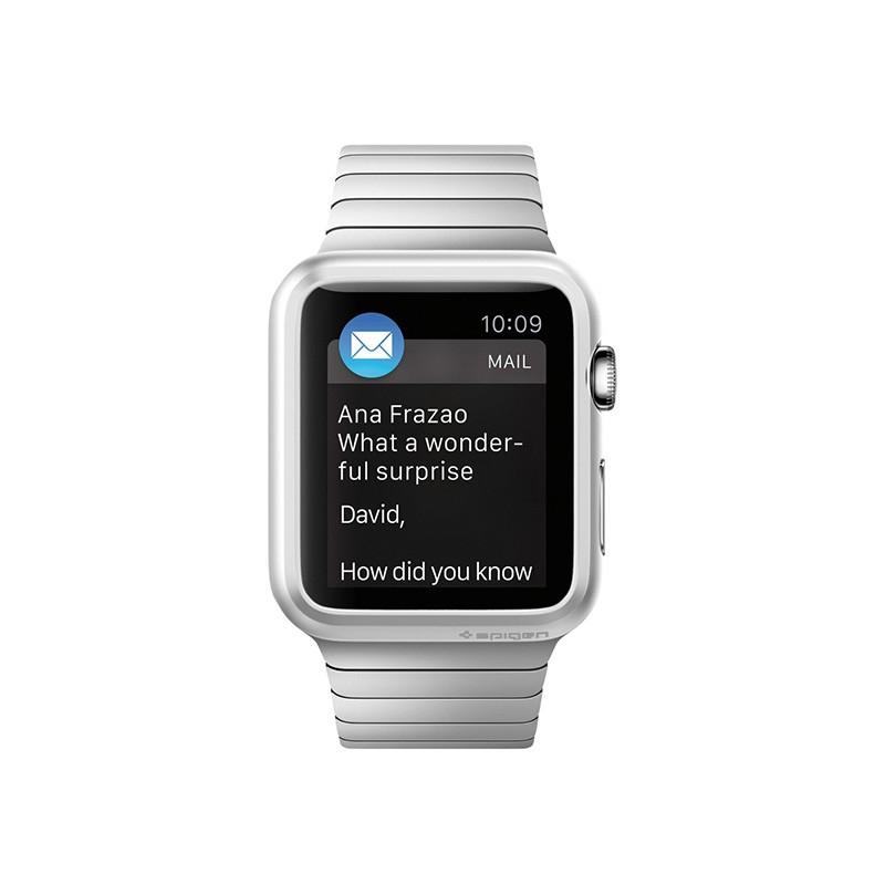 Spigen Thin Fit Case Apple Watch 38mm Silver - 3