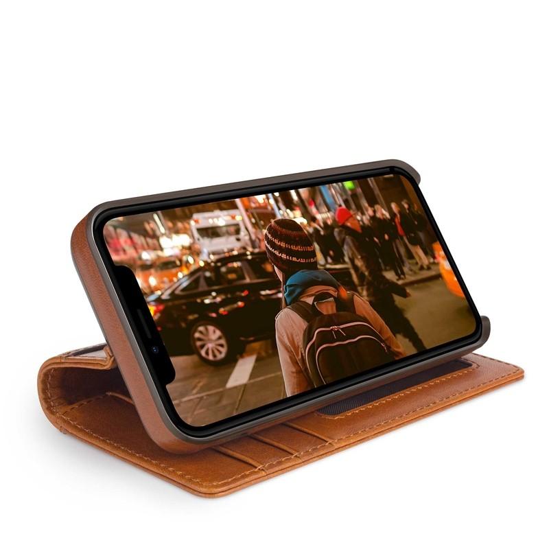 Twelve South Journal iPhone XS Max Hoesje Bruin Leer 03