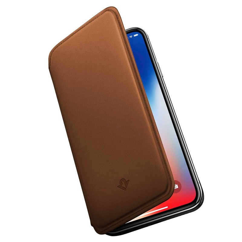 Twelve South SurfacePad iPhone XS Max Hoesje Bruin Leer 03