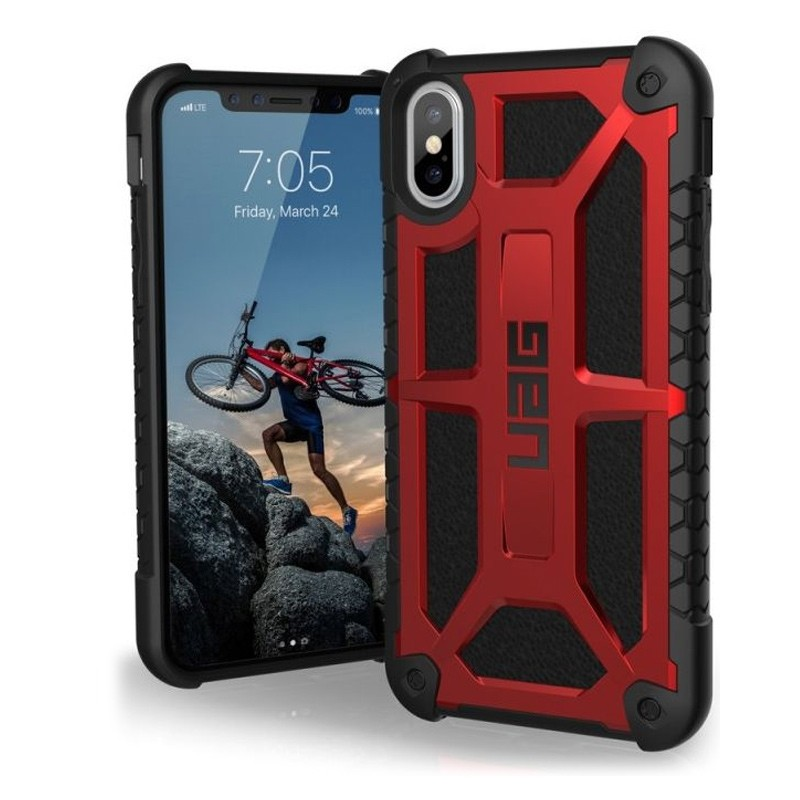 UAG Monarch iPhone X/Xs Hoesje Crimson Red / Black 03