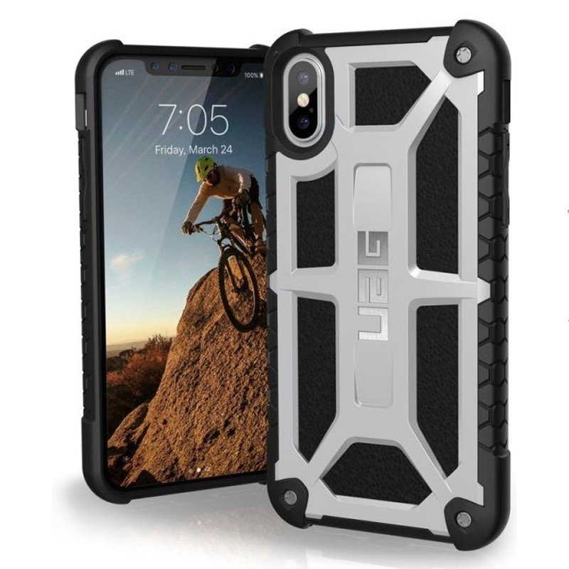 UAG Monarch iPhone X Hoesje Platinum Platina 03
