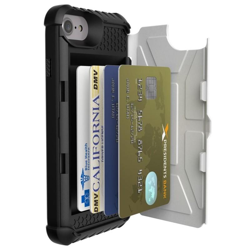 UAG - Trooper iPhone 6 / 6S / 7 hoesje met pasjes wit 03