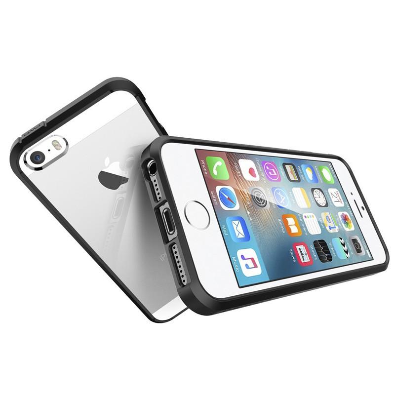 Spigen Ultra Hybrid Case iPhone SE / 5S / 5 Black - 3