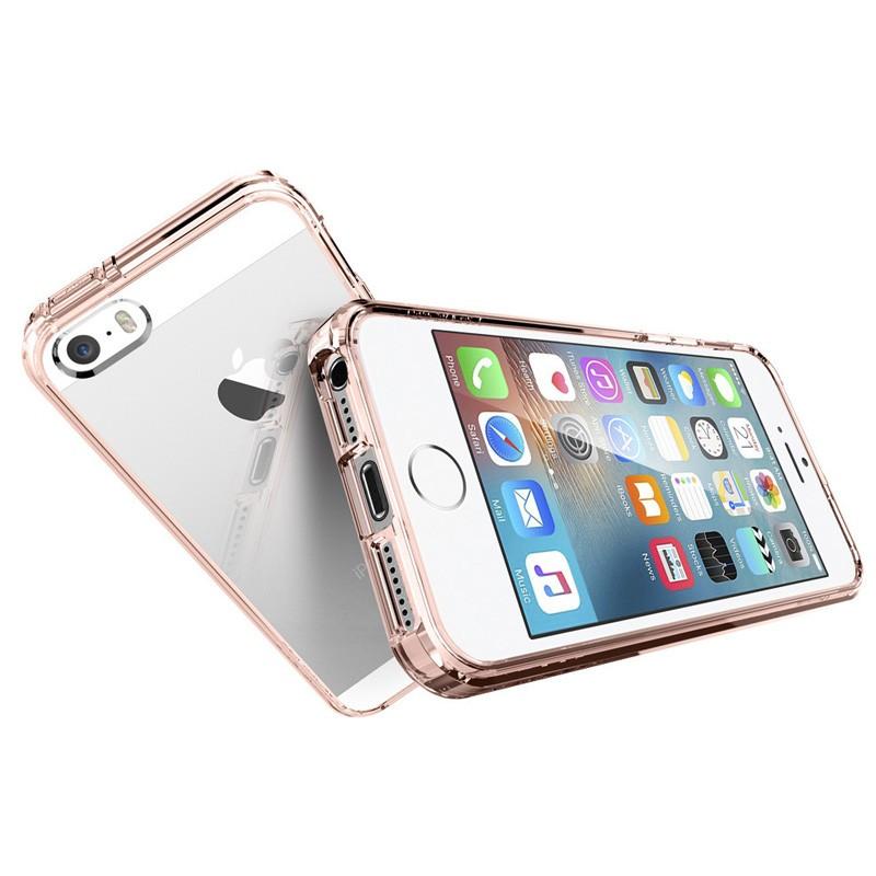 Spigen Ultra Hybrid Case iPhone SE / 5S / 5 Rose Gold - 3