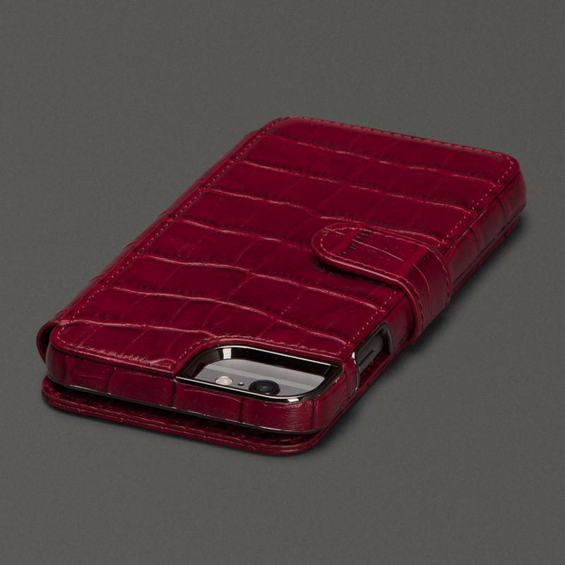Sena  Wallet Book Classic iPhone 6/6S Croco Red - 3